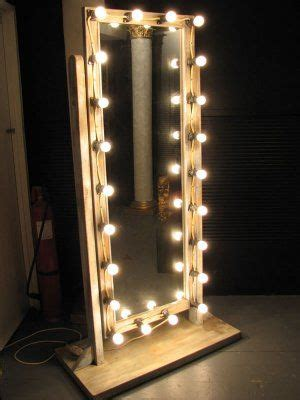 makeup mirror with lights floor standing circus props