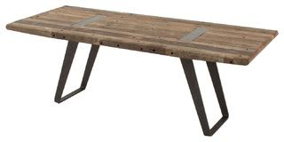 eclectic dining tables industrial reclaimed dining table 85 quot eclectic dining