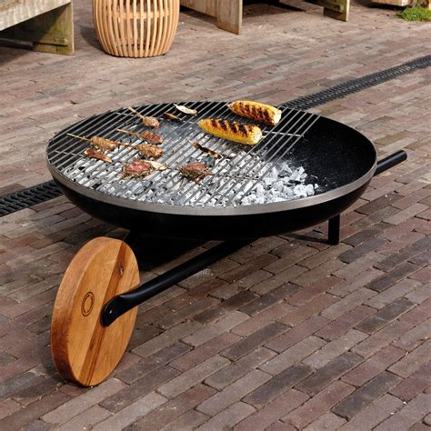 feuerschale outdoor barrow brazier with grill by konstantin slawinski