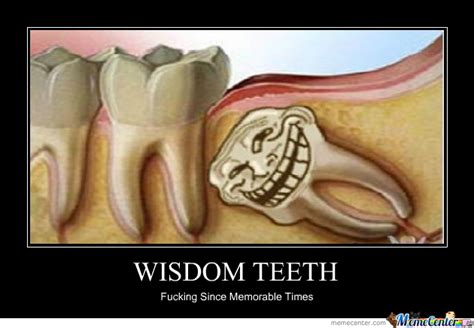 Wisdom Teeth Meme - wisdom teeth by meltord meme center