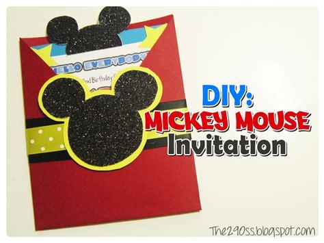 mickey mouse birthday invitation wording the290ss diy mickey mouse invitation