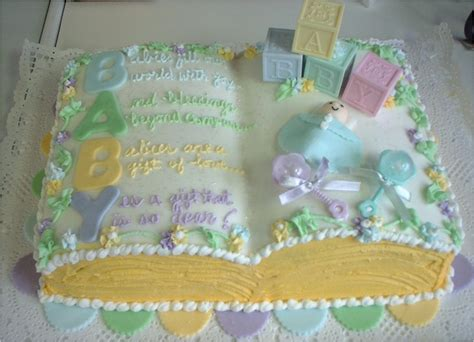 Baby Shower Book Cakes by Picture Insights Baby Shower Cakes