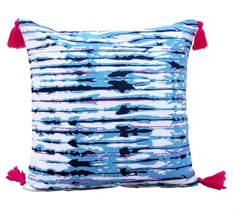 shibori stripe pillow cover striped tie dye bright pink