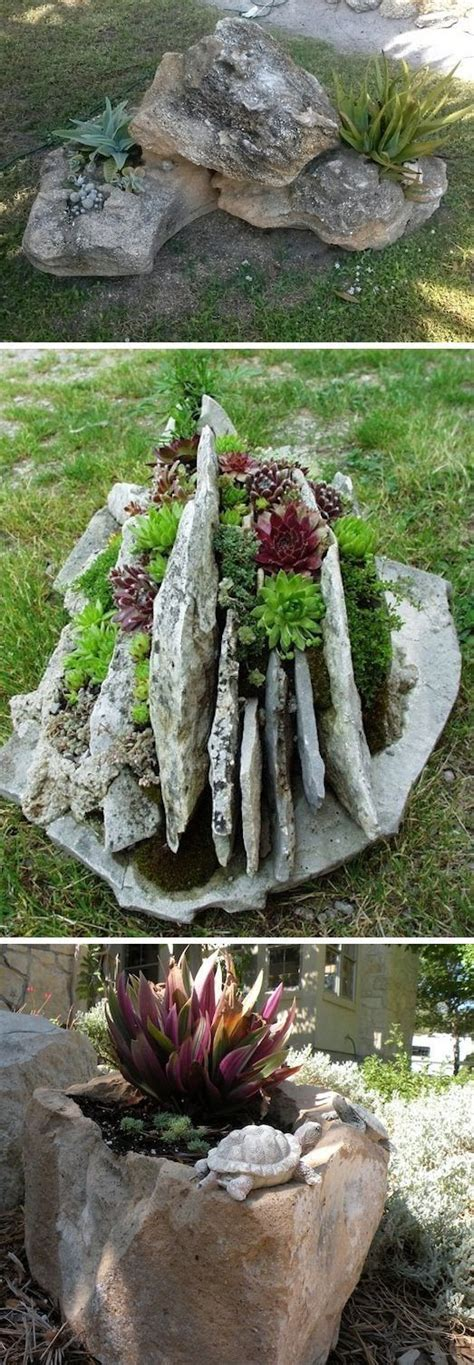 Rock Garden Planters 24 Creative Garden Container Ideas With Pictures Gardens Planters And Creative