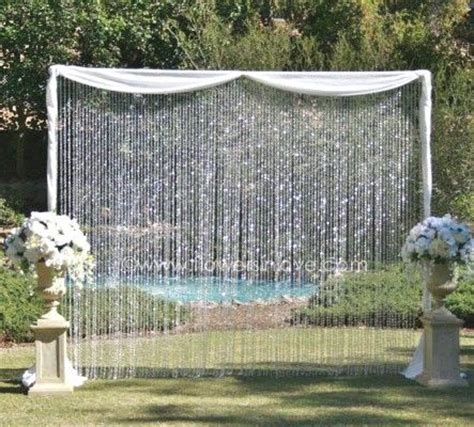 wedding backdrop with crystals backdrop happily after