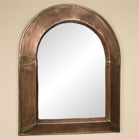 arched bathroom mirror arched lightly hammered copper mirror little gothic