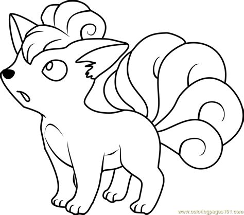 vulpix pokemon coloring page free pok 233 mon coloring pages