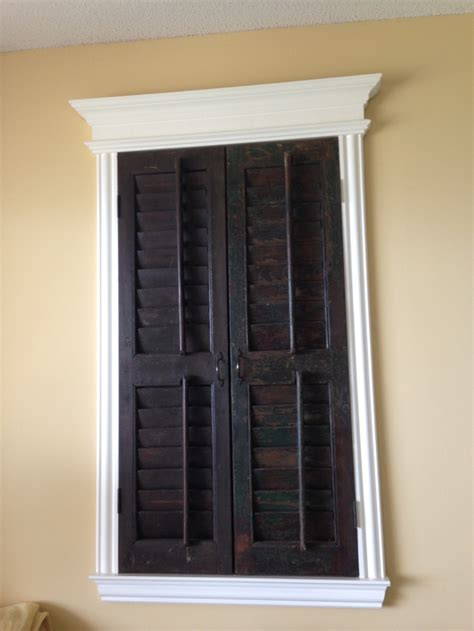 Decorative Shutters Interior by Shutters Used As Interior Wall Decor House Stuff