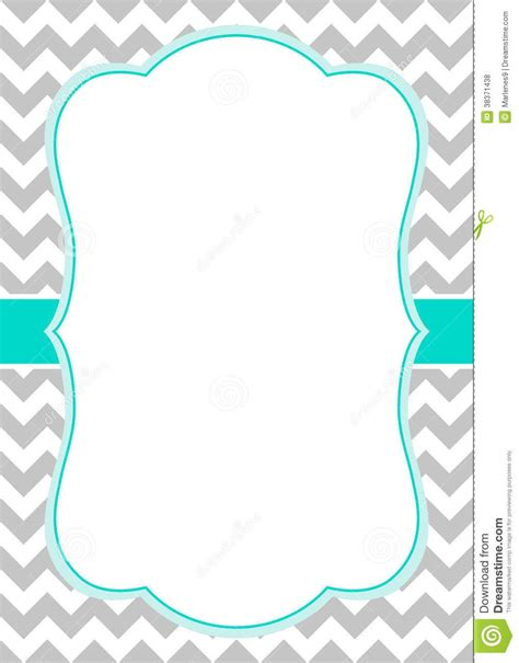 invite templates free free chevron border templateadmin admin baby shower