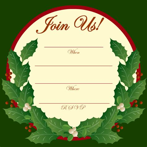 red ornaments and gold starlights holiday invitation christmas