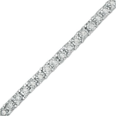 1 Ct Tw Tennis Bracelet by 1 Ct T W Tennis Bracelet In Sterling Silver