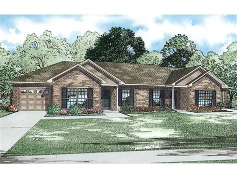 24 best images about duplex single story ranch homes on pinterest house plans home and ranch multi family house plans ranch duplex home plan 025m