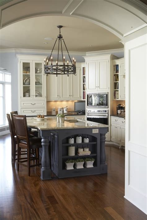 kitchen island color ideas adding wood trim to kitchen cabinets