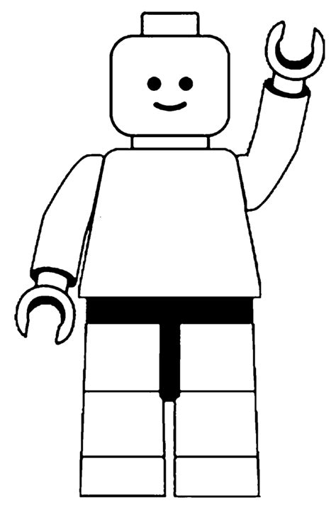 blank lego coloring page lego figure printable clipart best