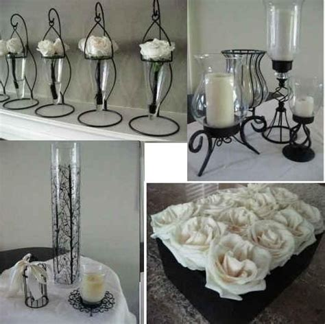 Black And White Weddings Centerpieces Black White Black And White Centerpiece