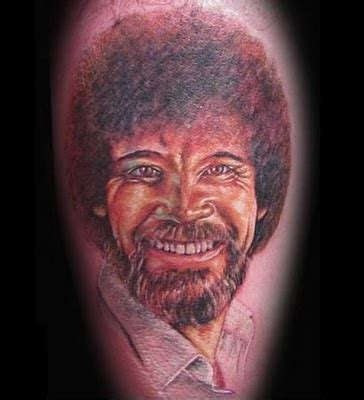 bob ross tattoo happy bob ross my bob ross