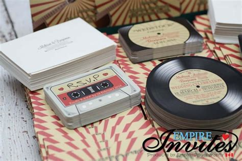 vintage record wedding invitations custom vinyl record wedding invitations canada empire