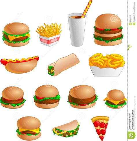 fast food dogs collection of fast food icons royalty free stock photo image 26964965