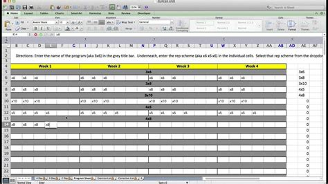daily strength training log office templates