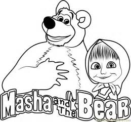 Masha And The Bear Coloring Page  Free sketch template
