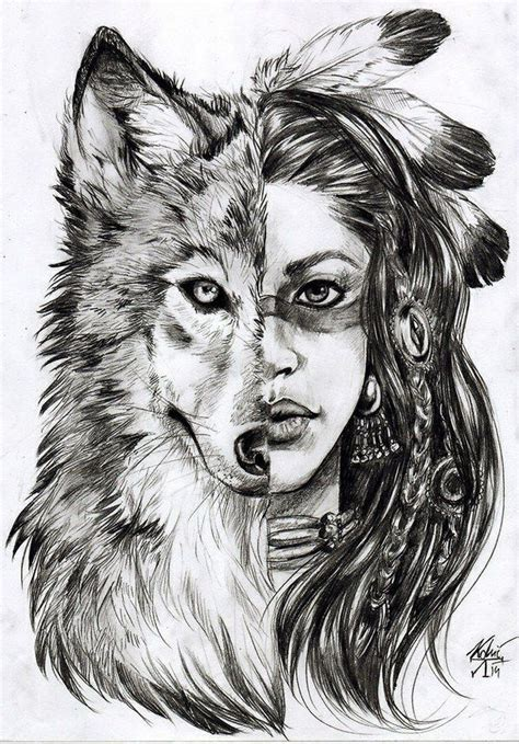 art awesome cute draw indian love smile wolf