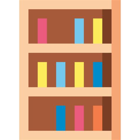 Book Shelf Icon by Bookcase Free Buildings Icons