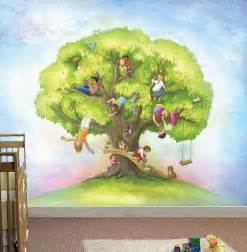 large wall mural kids treekid in the mural children s wall mural classic fauxs amp finishes