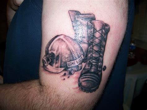 coal tattoo coal mineing boots and hat picture at