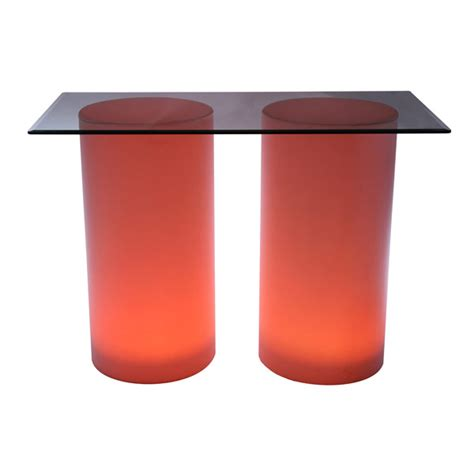 high buffet table illuminated cylinder high buffet table