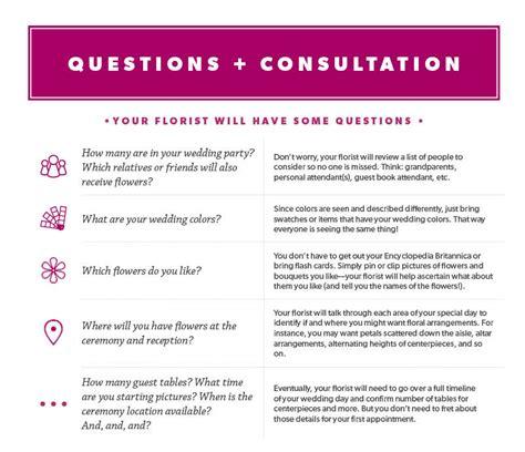 wedding flower consultation questions floral festivities event rental decor floral