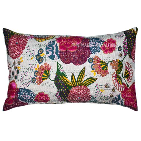 Decorative Pillows For Beds by 28 Quot X18 Quot White Indian Handmade Decorative Bed Throw