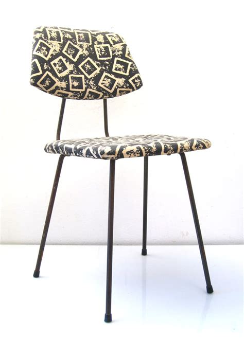4 elsrijk fifties vintage kitchen chairs