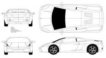 Lamborghini Gallardo Blueprint Car Blueprints Lamborghini Gallardo Blueprints Vector