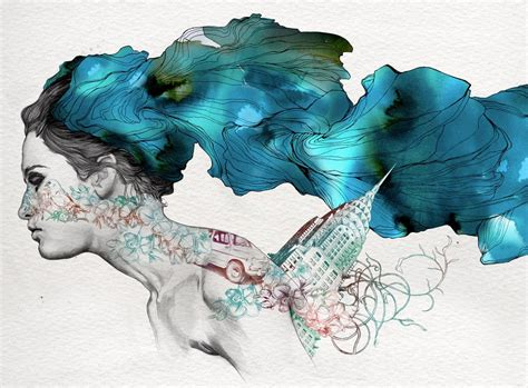 tattoo pen watercolor art and life hybrids by gabriel moreno 171 illustration