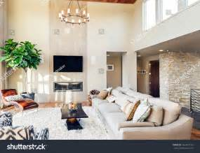 pictures of beautiful living rooms with fireplaces beautiful living room hardwood floors tv stock photo