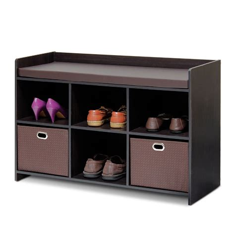 Bench Shoe Rack by Entryway Storage Bench Shoe Organizer Entry Seat Hallway