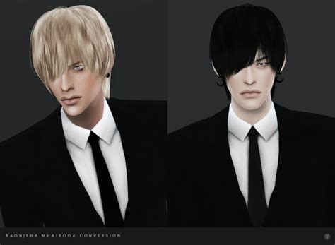 My Sims 4 Blog: Raonjena Male Hair 06 Conversion by BlackLe