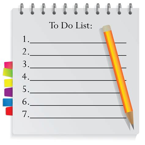 get organised with a to do list