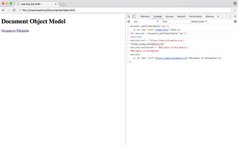 javascript tutorial dom nodes and tree how to work with the dom tree and nodes digitalocean