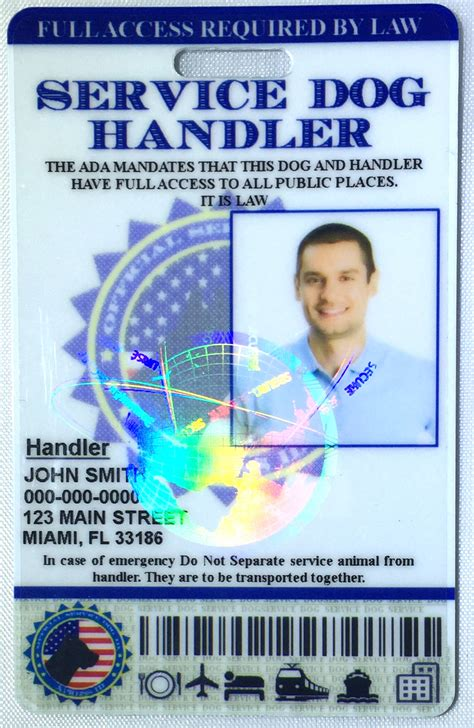 service id card service handler id card holographic xpressid