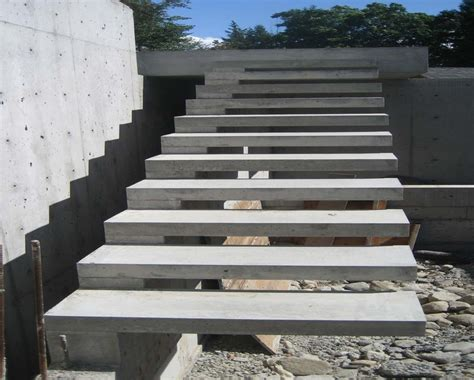 Exterior Concrete Cantilevered Stair Frontal best layout for small bedroom concrete stair detail exterior concrete stair design interior