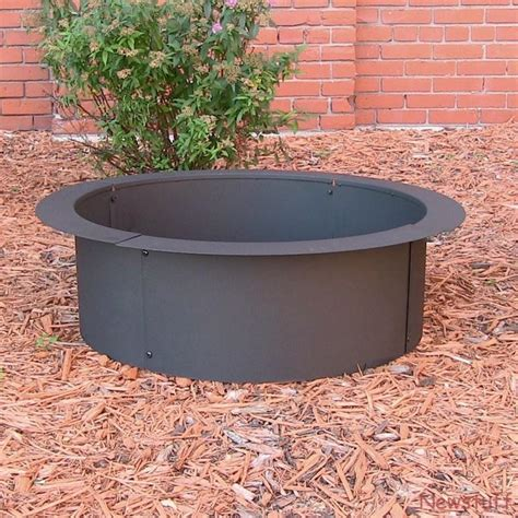 4 pc diy outdoor steel pit ring insert