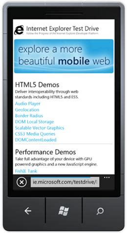 drive mobile site microsoft launches ie9 mobile test drive site for windows