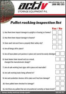 pallet racking safety guide pallet racking safety