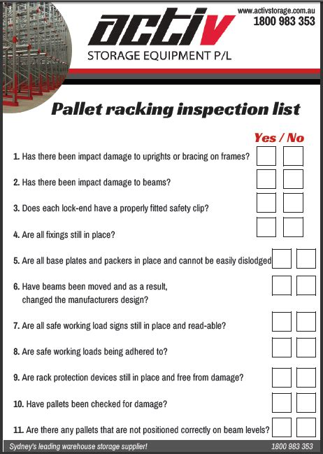 Rack Safety Inspection by Pallet Racking Safety Guide Pallet Racking Safety