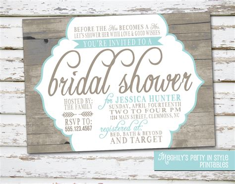 country rustic theme bridal shower invitation by meghilys