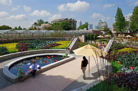 Atlanta Ga Botanical Gardens Atlanta Botanical Garden S Edible Garden Outdoor Kitchen Connect Visitors With Food