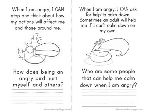 angry bird anger management worksheets anger management elementary school don t be an angry