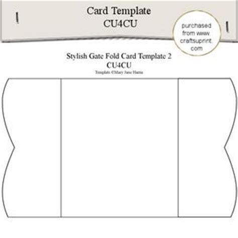 gate fold single card template shaped bookmark templates 2 cu4cu cup354536 99
