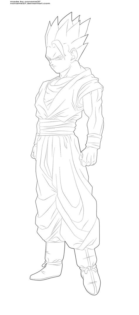 Dragon Ball Z Ultimate Gohan Coloring Pages Coloring Pages Z Gohan Coloring Pages
